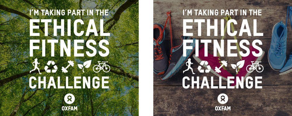 Ethical Fitness Challenge social media images