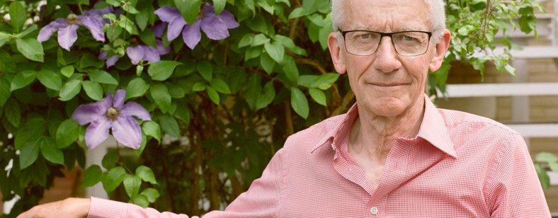 Richard in his garden