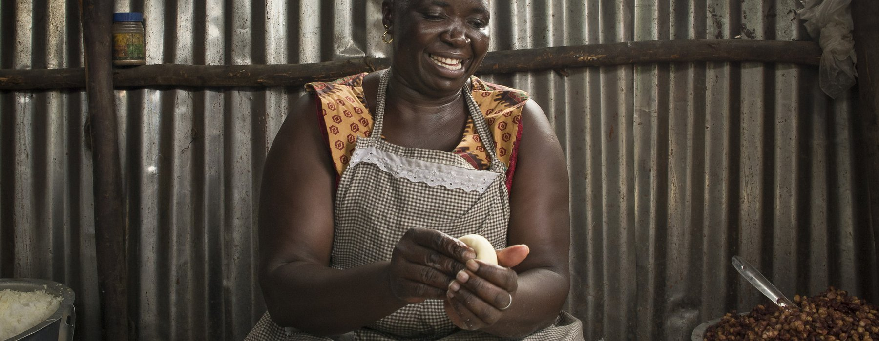 Rose at her chapatti business in Korogocho