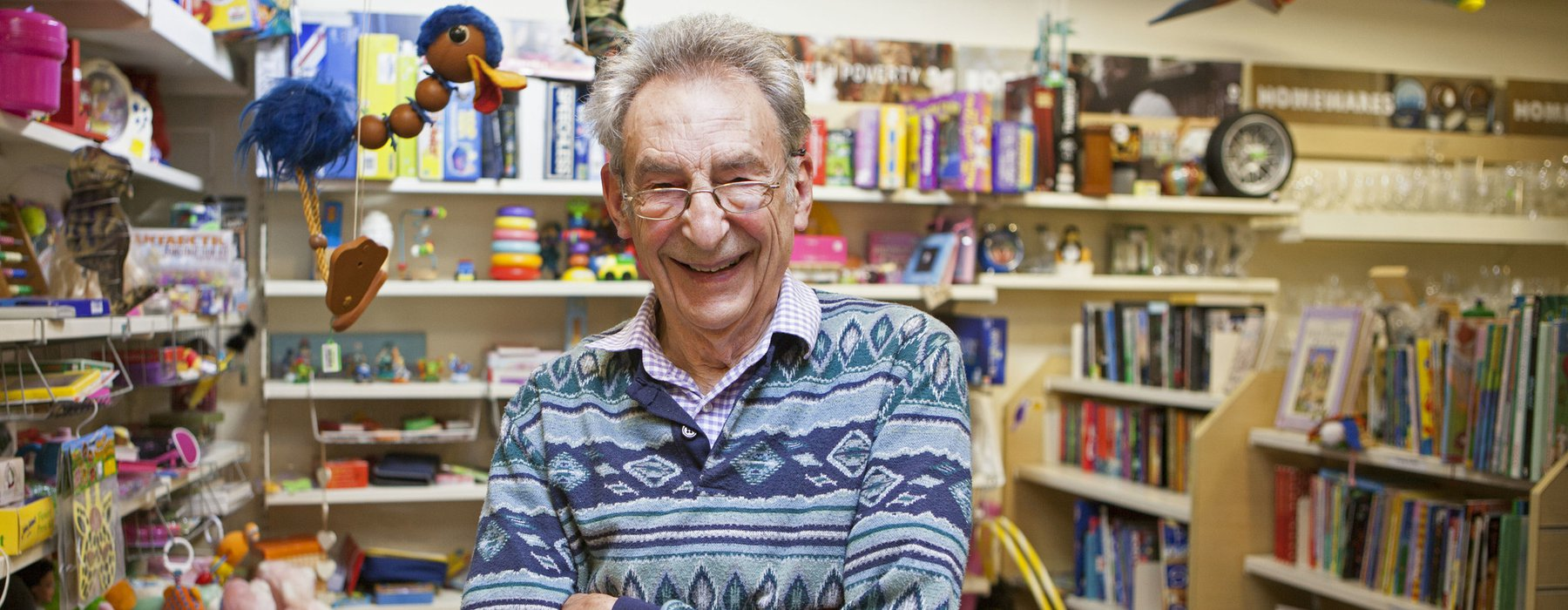 Oxfam volunteer Roger Baker, pictured in Oxfam's shop in Abingdon.