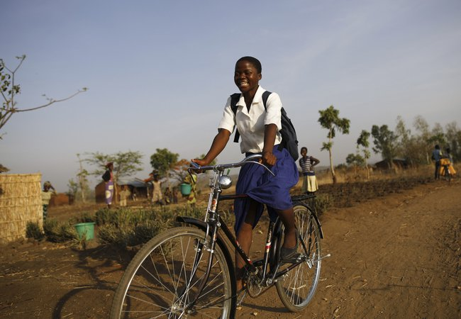 Grace, who attends school in Southern Malawi