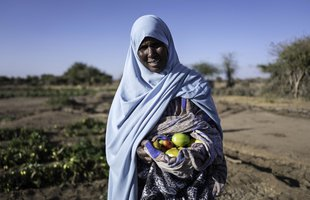 Hassana is farming in Ethiopia