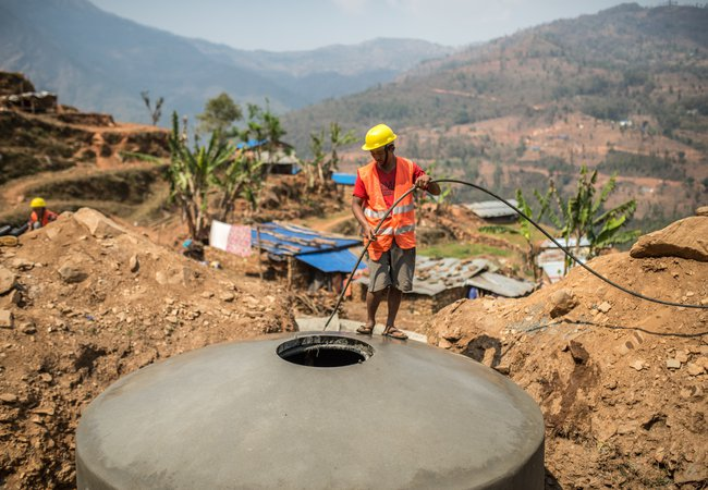 Construction of water point - Nepal