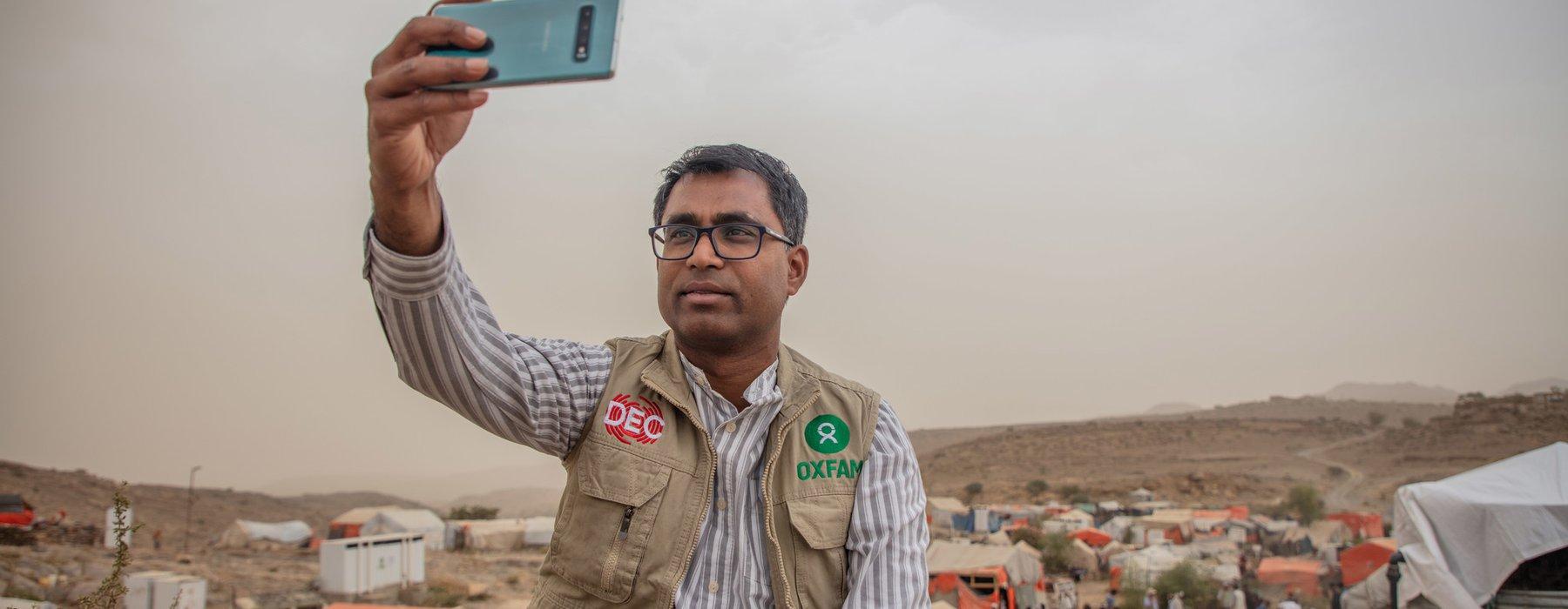 Danny Sriskandarajah visiting Houth, IDP camp, Yemen