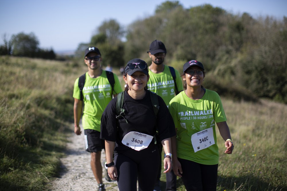 A group of four Trailwalker walkers
