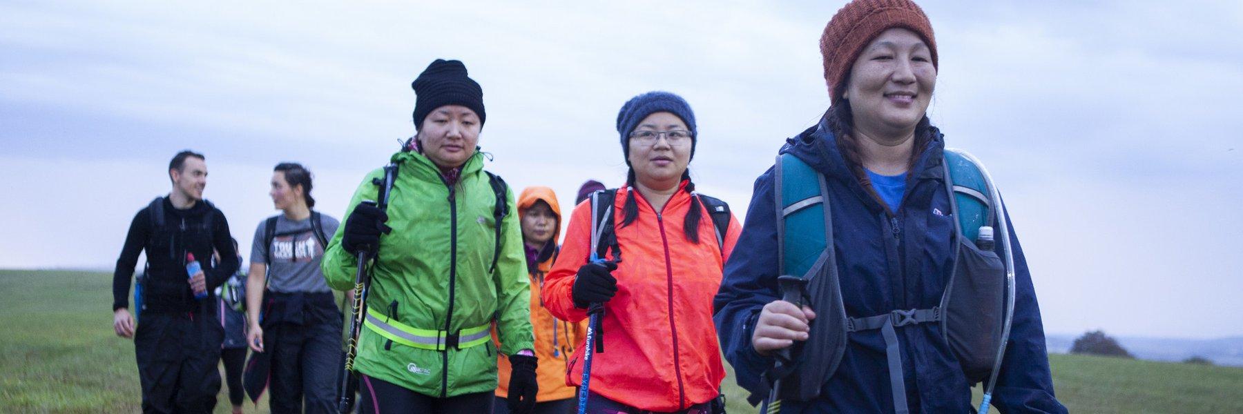 Participants at Trailwalker