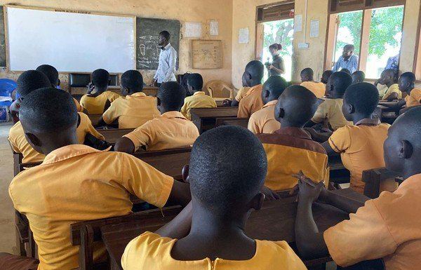 Pupils in a rural classroom in Ghana.