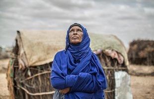 Amina looks at the sky in Ethiopia