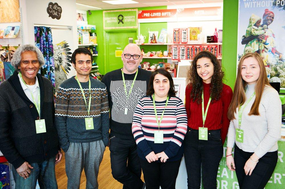 Shop volunteer team