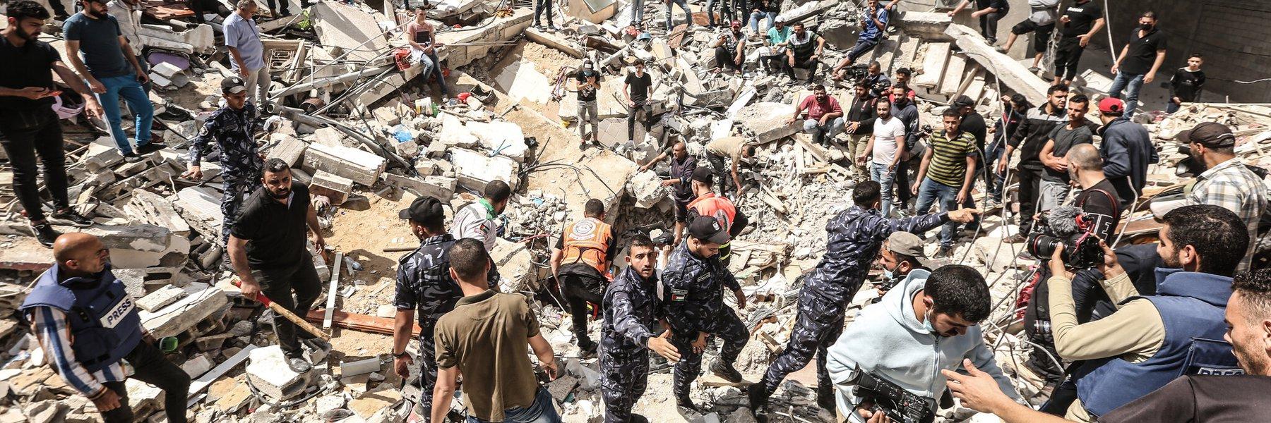 Devastation in Gaza. Photo: Fady Hanona