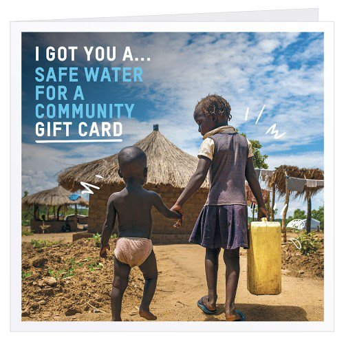 The safe water for a community charity gift card