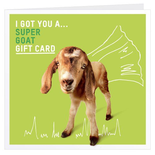 The super goat charity gift card