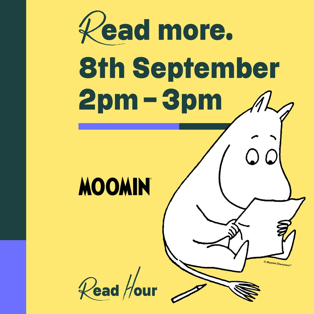Join Read Hour with the Moomins on 8th September