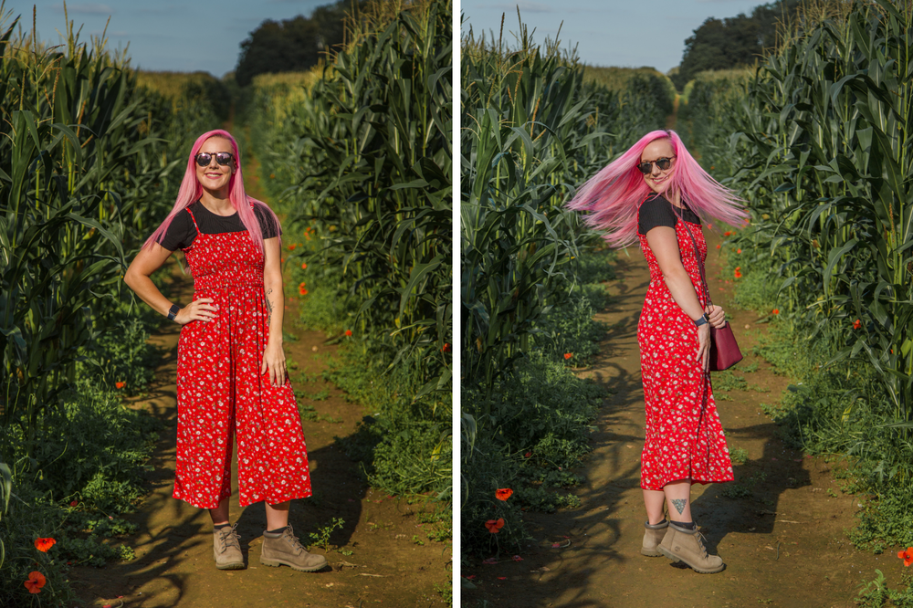 Second Hand Outfit red flower jumpsuit