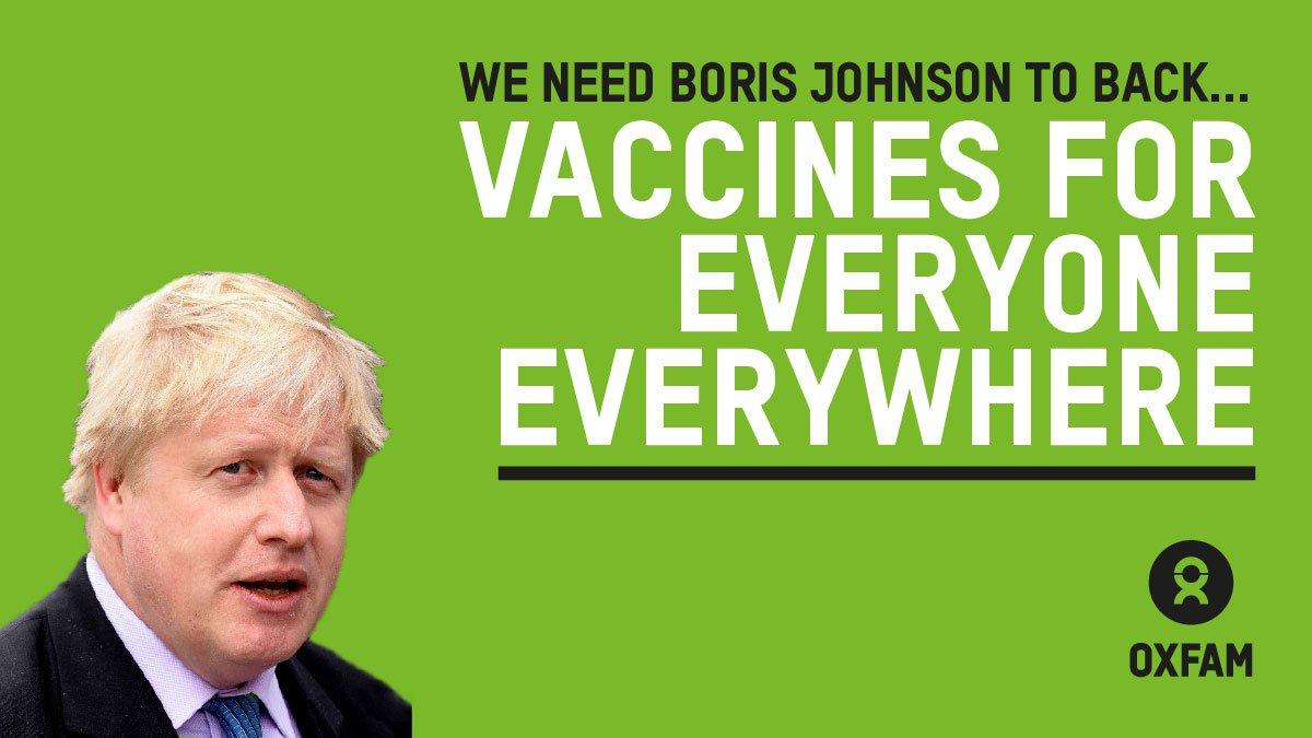 We need Boris Johnson to back vaccines for everyone everywhere.