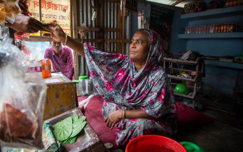 Mahfuza is a member of the East Tengrakandi food bank in Bangladesh.