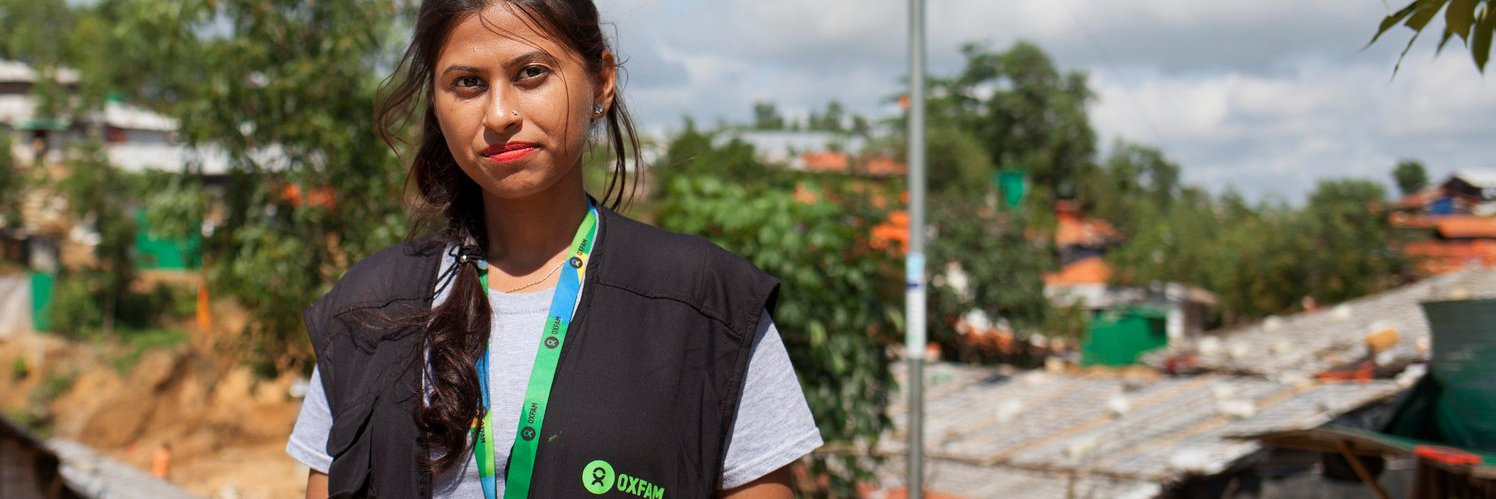 Iffat is part of Oxfam's team working to provide vital aid to more than 230,000 people in Cox's Bazar, Bangladesh.