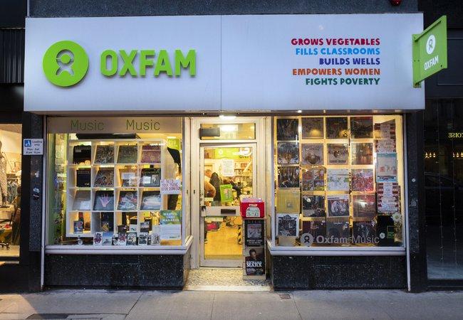 Oxfam Music Shop on Byres Road, Glasgow.